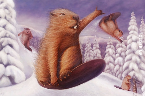 Cool artSnowboards Beaver, Snow Style, Art Prints, Cool Art