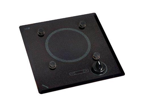 Kenyon B40517PUPS 6-1/2-Inch Mediterranean 1-Burner Cooktop with PUPS and Analog Control, 120-volt, Black