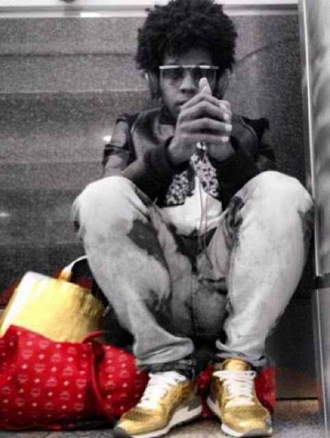 """Trinidad James Rocking Play Cloths x Saucony Shadow 5000 """"Gold"""" Sneakers"""