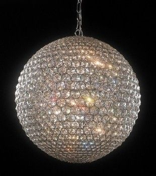 Milano large crystal globe pendant ceiling light from for Crystal bar milano