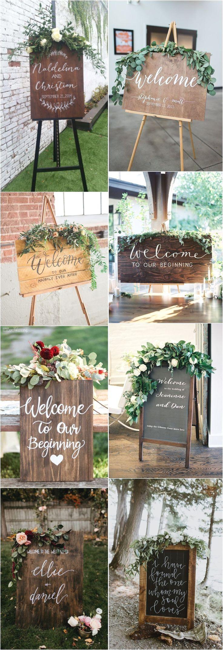 Amazing Rustic Wedding Sign Ideas