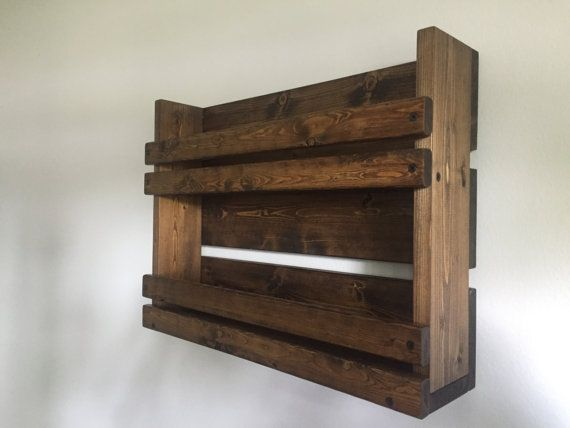 Rustic spice rack with 2 shelves Bathroom 2 by BlackIronworks