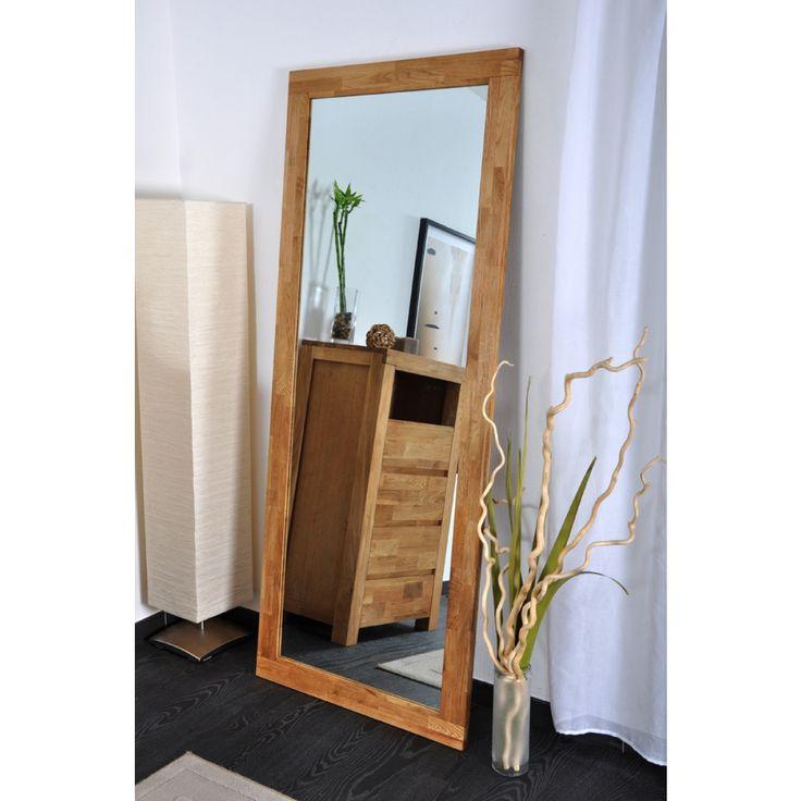 Miroir chêne 185 x 75 cm massif Bali