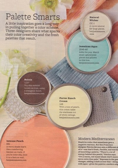 Modern Mediterranean Paint Colors