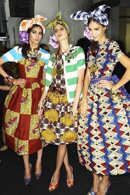 backstage at stella jean #african #print #dress
