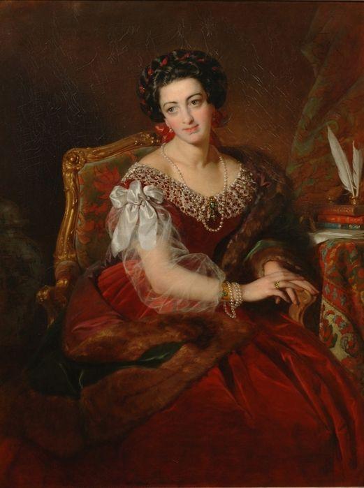 Countess von Castiglione; by Friedrich Ritter von Amerling, 1858