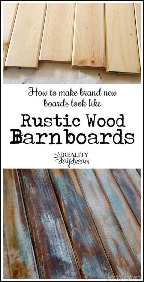 Diy tutorial antiquing wood Barn Wood How To Make Distressed Wood Barn Boards From New Wood Painting Techniques Pinterest Diy Woodworking Woodworking Tips And Barn Wood Pinterest How To Make Distressed Wood Barn Boards From New Wood Painting