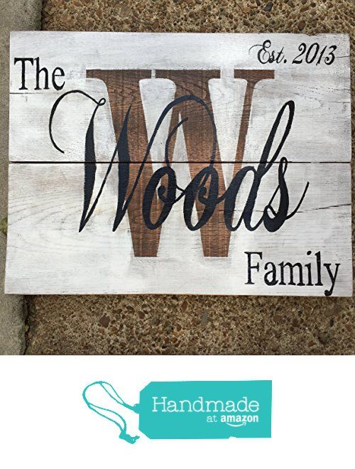 Family Name Plaque 20 x 16 - Personalized Hand Painted - Established Family Name Sign - Wedding Gift, Anniversary Gift, Engagement Gift, Housewarming Wood Wall Hanging Rustic Wall Decor from MintBluDesigns http://www.amazon.com/dp/B01AZR5X5O/ref=hnd_sw_r_pi_dp_7d8dxb0P39Q65 #handmadeatamazon