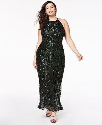 452acfd9104 Shop Morgan   Company Trendy Plus Size Sequin-Patterned Backless Gown  online at Macys.com. The tonal sequined pattern of Morgan   Company s plus  size gown ...
