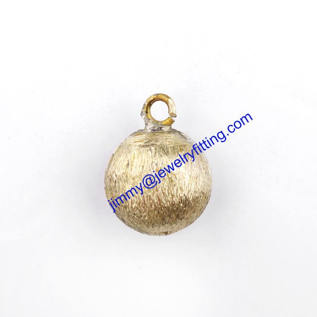 Wholsale Raw brass Charm/pendants for jewelry making round shape pendant stardust beads pendants