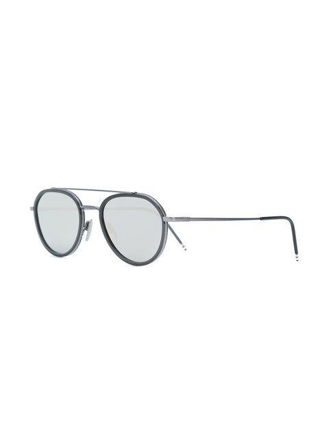 49261217821 Thom Browne Eyewear Pilotenbrille mit Doppelsteg