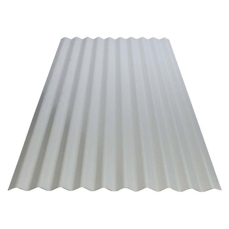 8 ft. Corrugated Galvanized Steel Utility Gauge Roof Panel-13513 - The Home Depot  Washboard...