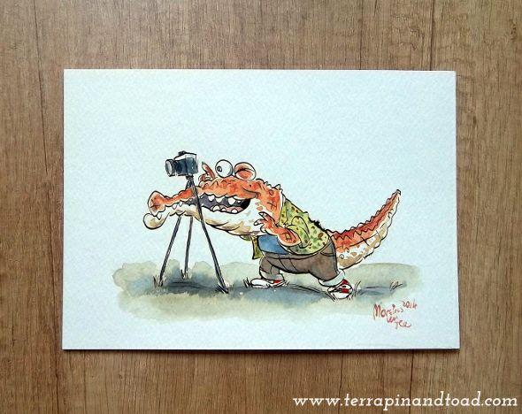 Terrapin and Toad: Sketchbook doodles - Crocodile photographer