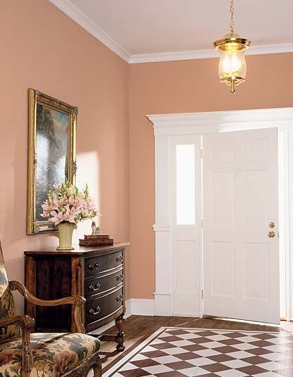 Best 25 peach walls ideas on pinterest peach paint for Images of interior painted walls