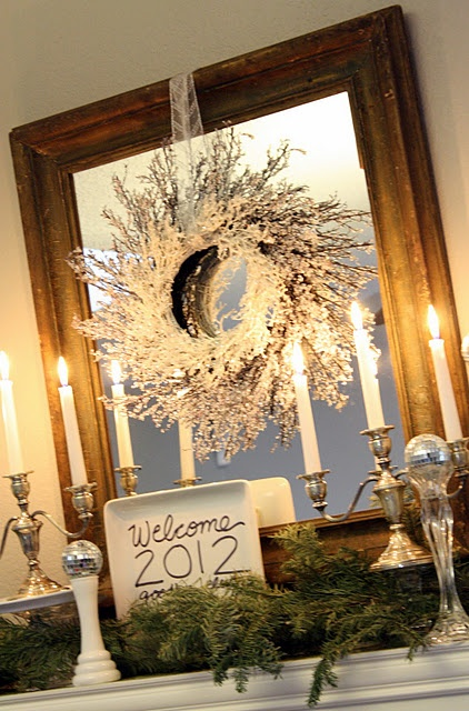 Decor Over Fireplace 29 best new year's eve fireplace decoration images on pinterest