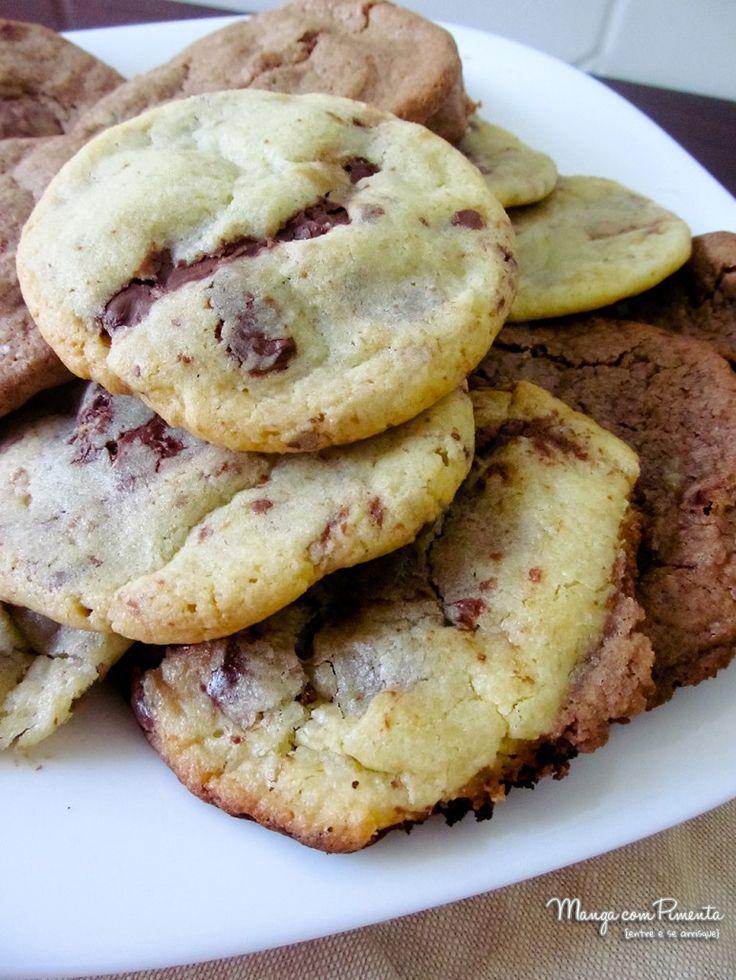 Cookies com Creme de Avelã, um doce para alegrar o dia. Clique na imagem para ver a receita no blog Manga com Pimenta.