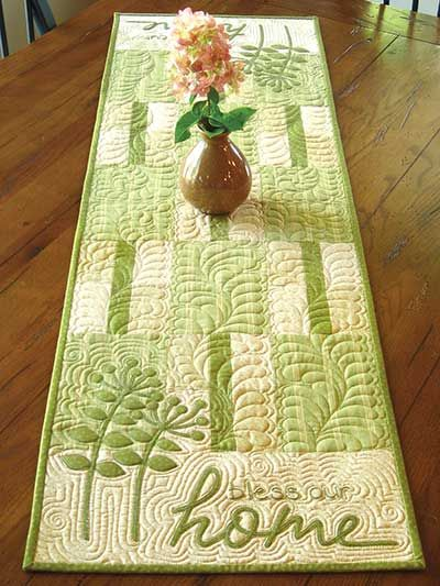 Bless Our Home Table Runner Pattern                                                                                                                                                      More