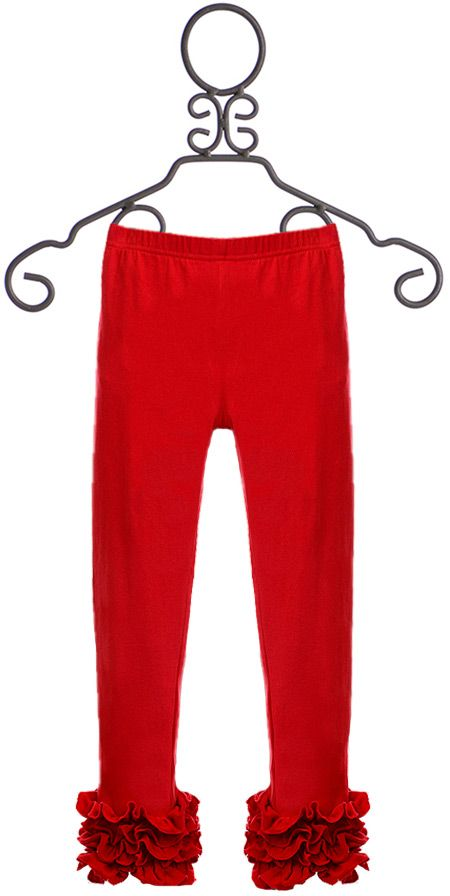 Serendipity Cotton Leggings for Girls in Red (12Mos18Mos24Mos)