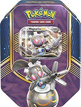 Pokemon TCG: Battle Heart Autumn/Fall Tin 2016 - One Tin at Random - Either Pikachu EX, Magearna EX or Volcanion EX (English) #pokemon