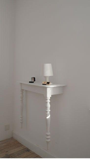 slightly surreal wall-mounted table  · i like