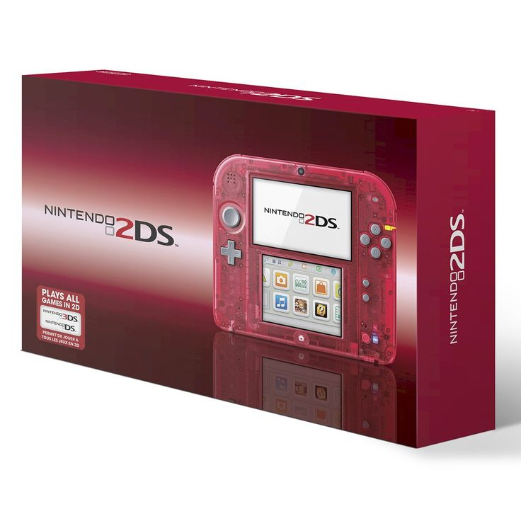 Nintendo 2DS Crystal Red Console | Xmas pls