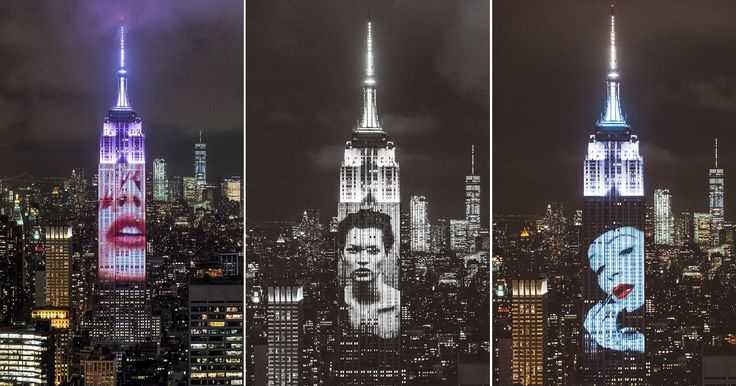 #Photography: Harper's Projected 150 Iconic Fashion Photos Onto the Empire State Building.
