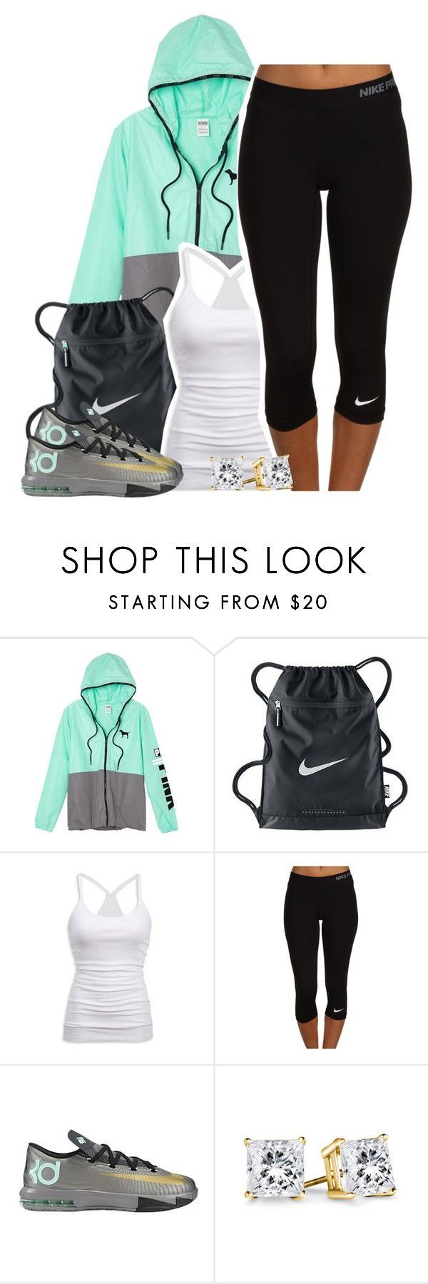 Untitled #1296 by lulu-foreva ❤ liked on Polyvore featuring Victoria's Secret, NIKE and American Eagle Outfitters