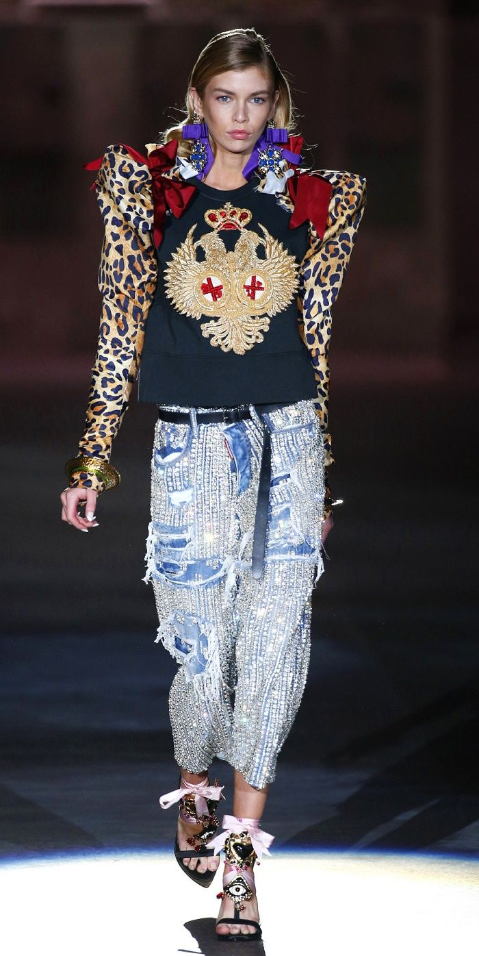 Desfile Dsquared2 PrimaveraVero 2017 Milan Fashion Week Destaques  Fragmentos de Moda