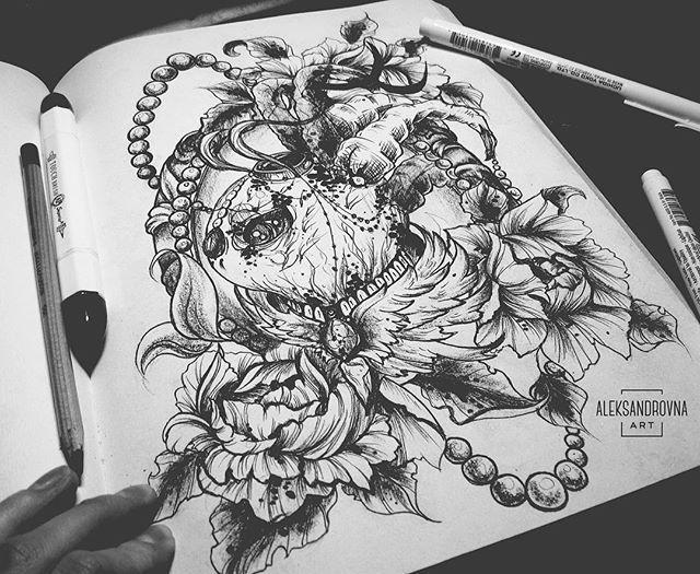 вот такой монстрик свободен для записи) #арт #aleksandrovnaart  #tatto #sketch #tattoo #tattsketches  #tattoopins  #graphic  #art  #illustration #графика  #рисунок #эскиз #blackwork #black #dotwork #dot #paint #painting #tattoos #tattooed #александровнаарт #черный  #рисунок #иллюстрация #художник #татуировки #татуировки #таттукиев #таттуукраина #монстр #engravingtattoo