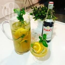 Pimm's and lemonade recipe. My favourite summer drink, but beware it may taste innocent but it packs a kick, I know!