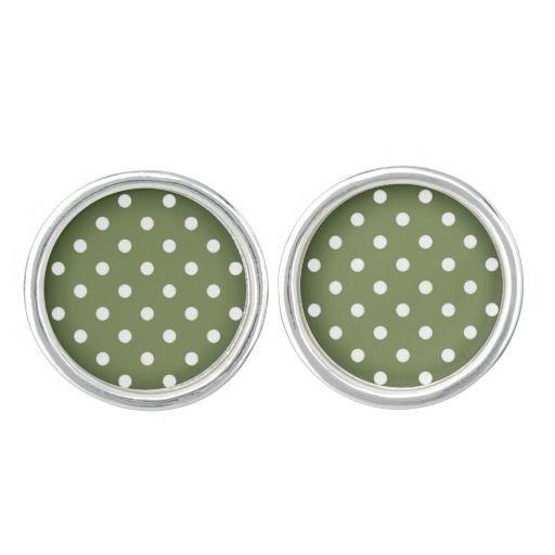 Creative VINTAGE Cufflinks / Green with by RosemaryWellnessShop