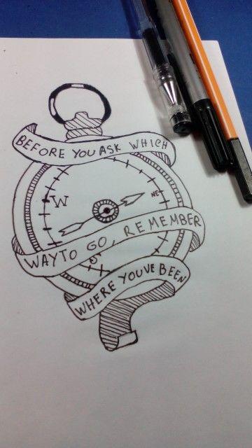Desenho de bússola tattoo... Visite nos no YOUTUBE: Desenho-Loko
