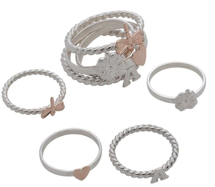 Ring - CHARM STACKS - Sterling silver or 9ct gold