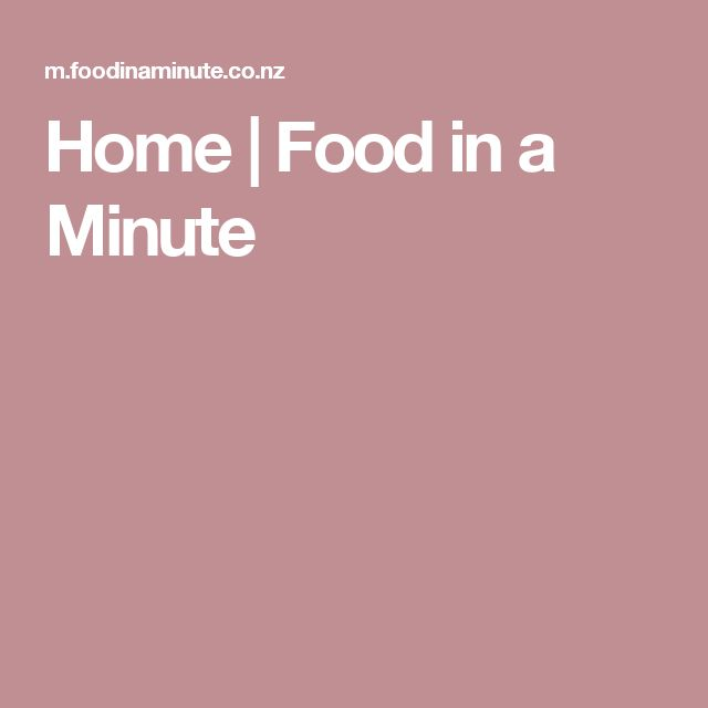Home | Food in a Minute