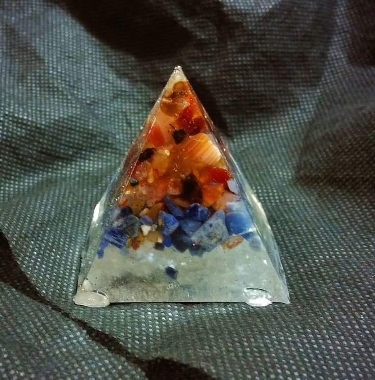 Carnelian, Sodalite and Selenite Piezoelectric Pyramid by KomacFineArt on Etsy