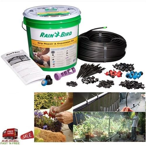 Rain Bird Tubing 250Ft Drip Sprinkler System Irrigation Repair Expansion Kit 112 #RainBird