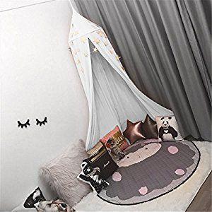 Amazon Com Jeteven Cotton Canvas Dome Bed Canopy Kids