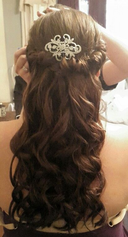 Loved doing this beautiful bride & bridemaid's hair today!