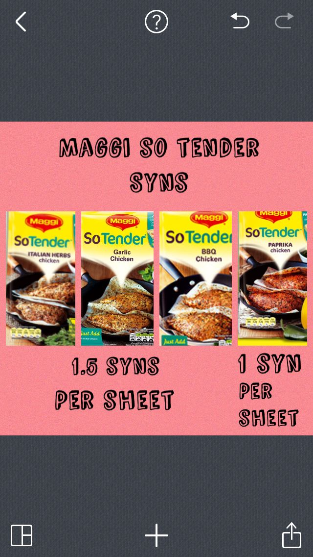 Maggi so tender syns