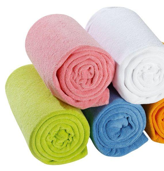Drap housse éponge extensible lavable à 95°C pour le blanc et 60°C pour les couleurs