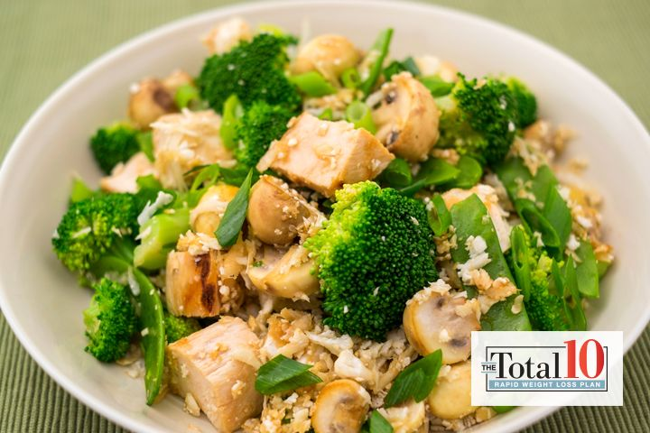Total 10 Chinese Chicken Bowl: Get your Chinese-food fix with this hearty bowl!
