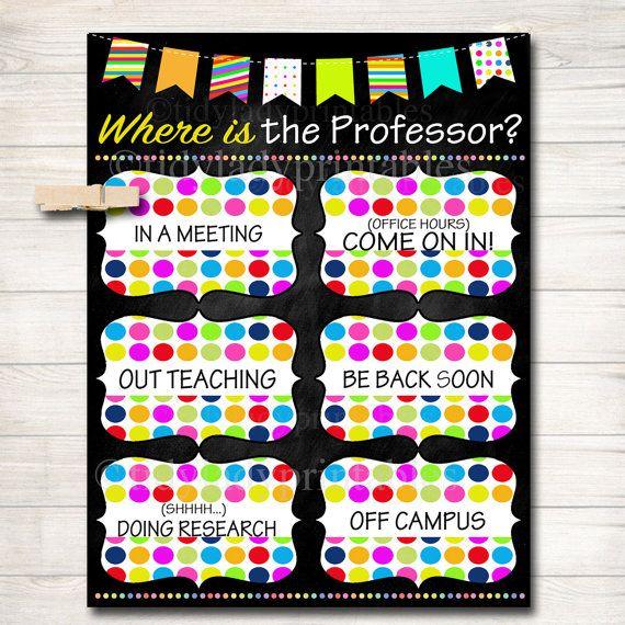 Where is the Professor Door Sign, College Professor Gifts, Office Door Hanger…