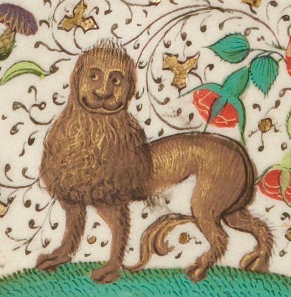 Happy Lion @GallicaBnF, Fr. 1654, 15th c.