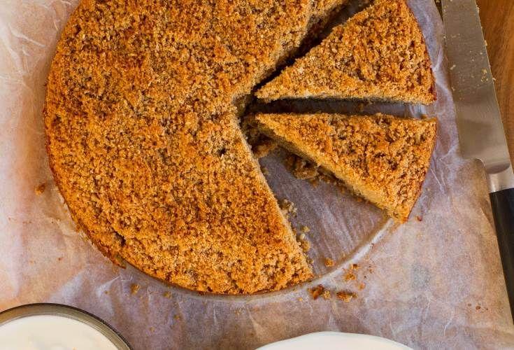 Apple Almond Crumble Cake