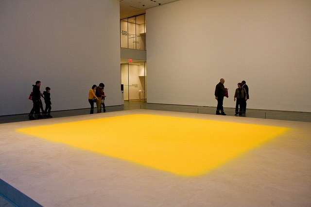 Wolfgang Laib, Pollen from Hazelnut, saw it at the MoMA, very nice!