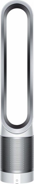 Dyson - Pure Cool Link Tower Air Purifier - White, silver - Front_Zoom