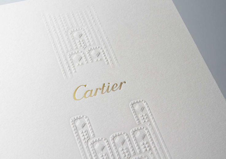 Cartier «l'Odyssée de Cartier» - Créanog, Studio de création, Bureau de fabrication, Atelier de gaufrage et marquage à chaud à Paris