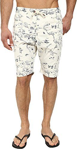 Howe Mens Cataline Print Walkshort Swim Shorts Bone Board Shorts 32 ** Click the image to visit the Amazon website
