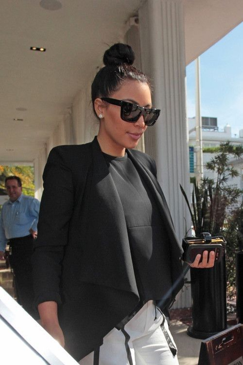 More Pics of Kim Kardashian Blazer - Kim Kardashian Style