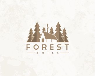 logo. nice, simple way to illustrate a landscape.